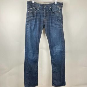 Replay Blue Waitom Straight Fit Men's Jeans